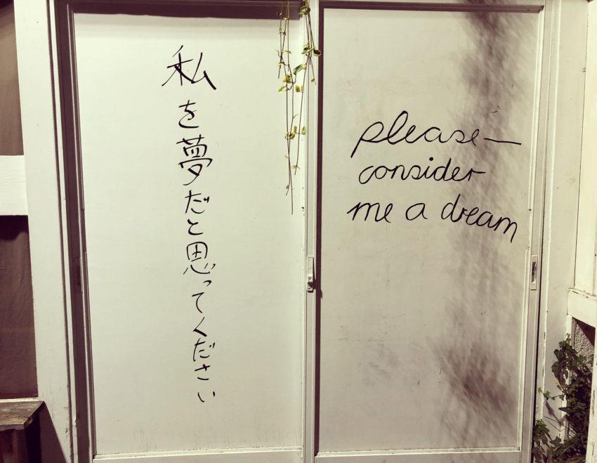 私を夢だと思ってください
